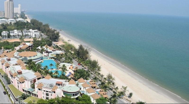 Sea View High Floor  Furnished Condo on South Cha-am Beach